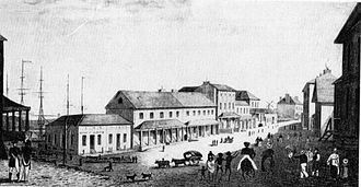 City of Sydney - Lower George Street, Sydney in about 1828