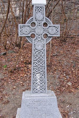 Rideau Canal Celtic Cross - The monument unveiled June 27, 2004 next to the Rideau Canal in Ottawa