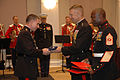 LtGen Huly receives the colors from CMC Gen Michael Hagee.jpg