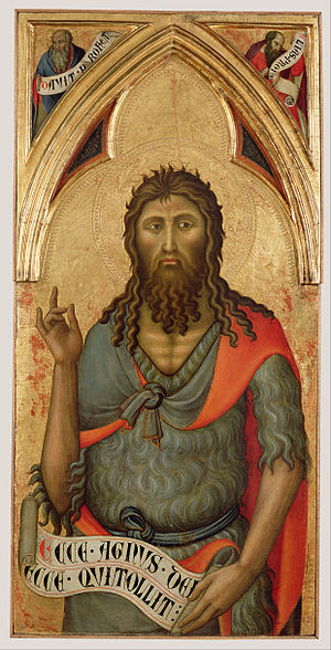 Luca di Tommè - Image: Luca di Tommè (Italian, active 1355 1389) Saint John the Baptist Google Art Project