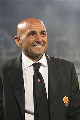 Luciano Spalletti als trainer van AS Roma