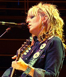 Lucinda Williams performing at Symphony Hall in Birmingham, England on November 8, 2006.