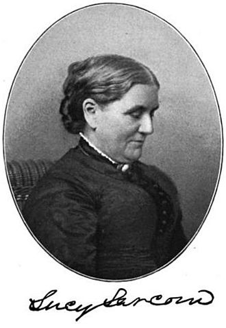 Lucy Larcom - Lucy Larcom with facsimile signature