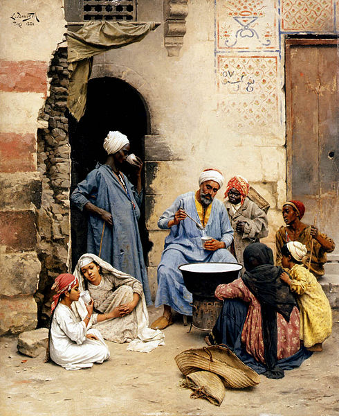 Fichier:Ludwig Deutsch - The Sahleb Vendor Cairo, 1886.jpg
