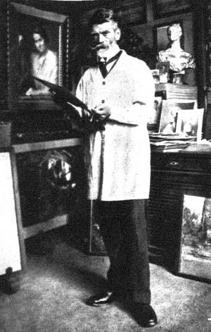 Max Fenichel - Portrait of painter Ludwig Michalek by Max Fenichel, 1919.