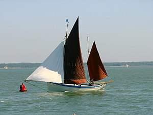 Lugger at Yarmouth Old Gaffers Festival 2009.jpg