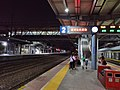 Luohe railway station platform night view.jpg