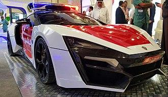 Lykan HyperSport - Lykan Hypersport - Abu-Dhabi Police Edition on display at GITEX 2015