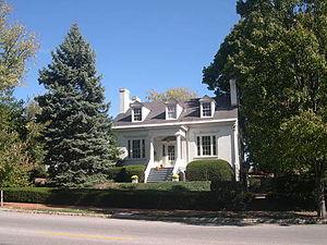 Lyman Trumbull House - The Lyman Trumbull house located at 1105 Henry Street in the historic Middletown neighborhood of Alton, Illinois