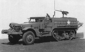 M21 Mortar Motor Carriage - Contemporary photograph of a M21 Mortar Motor Carriage.