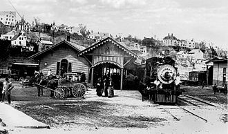 Belfast and Moosehead Lake Railroad (1871–2007) - Belfast Station ca. 1900