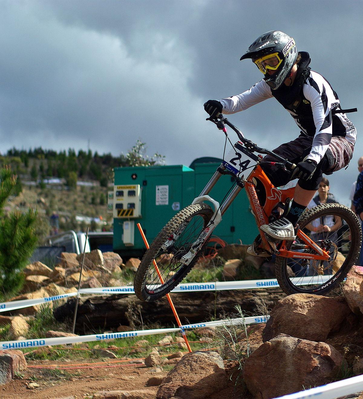 downhill mountain biking bike mtb cycling equipment wikipedia hill down