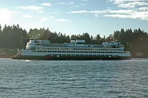 Rich Passage -  The Washington State ferry ''Hyak'' in Rich Passage heading to Bremerton, WA.
