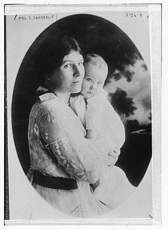 Narcissa Cox Vanderlip - Narcissa Cox Vanderlip with a baby, circa 1920.