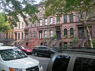 Bedford–Stuyvesant, Brooklyn - Row houses on MacDonough Street