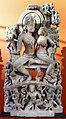 Madhya pradesh, ravana che scuote il monte kailasa, viii secolo.jpg