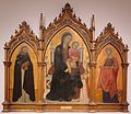 Madonna & Child Enthroned with Donors, Sts. Dominic & Elizabeth of Hungary' by Lippo Vanni.JPG