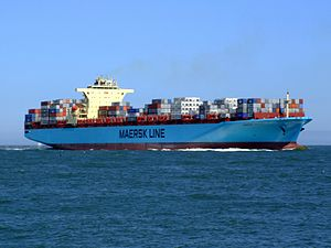 Maersk Sofia p05 approaching Port of Rotterdam, Holland 04-Aug-2007.jpg
