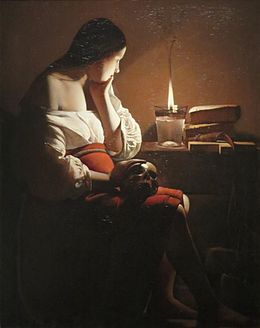 Magdalen with the Smoking Flame c1640 Georges de La Tour.jpg