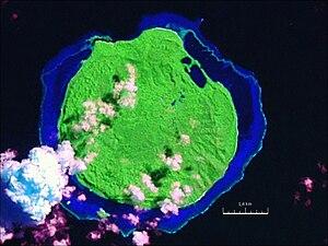 Mago Island - NASA Geocover 2000 satellite image