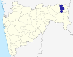 Location of Bhandara district in Maharashtra