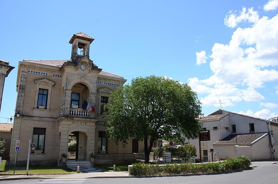 Mairie of Bezouce Gard district France