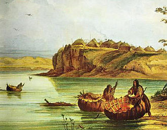 Madoc - George Catlin thought the Mandan bull boat to be similar to the Welsh coracle.