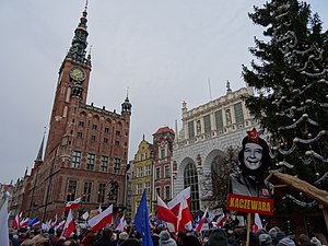 Committee for the Defence of Democracy - A KOD demonstration in Gdańsk on 19 December 2015.