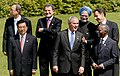 Manmohan Singh, with the U.S. President Mr. George W. Bush, the U.N. Secretary General, Mr. Ban Ki-Moon, the Chinese President, Mr. Hu Jintao, the Italian Prime Minister, Mr. Romano Prodi, the South African President.jpg