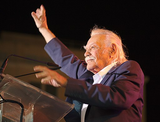 Manolis Glezos with LAE 1