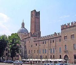 Piazza Sordello in Mantua.
