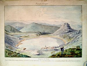 Manuel María Paz - Watercolor of the Lagunas de Siecha, in Chingaza Natural National Park, painted by Manuel María Paz in 1855 during the Comisión Corográfica.