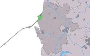 Zurich, Friesland - Image: Map NL Wûnseradiel Surch