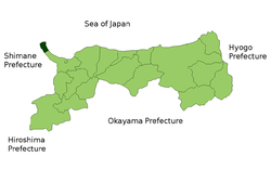 Location of Sakaiminato in Tottori