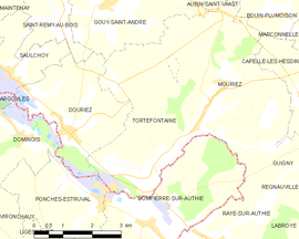 Mapa obce Tortefontaine