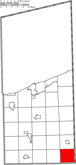 Location of Williamsfield Township in Ashtabula County