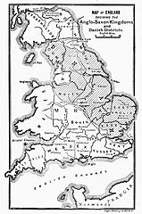 Anglo Saxon Map Of England.File Map Of England Showing The Anglo Saxon Kingdoms And Danish