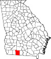 Map of Georgia highlighting Thomas County.svg