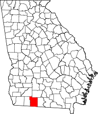 Map of Georgia highlighting Thomas County