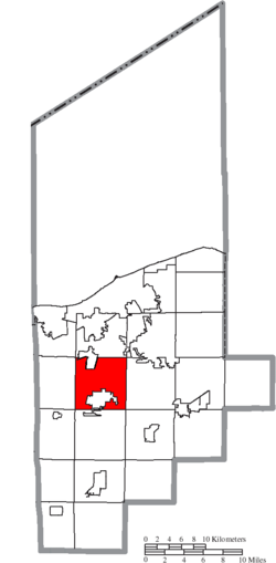 Location of New Russia Township in Lorain County