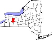 Map of Њујорк highlighting Livingston County