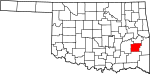 State map highlighting Latimer County