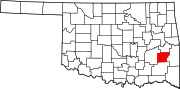 Map of Oklahoma highlighting Latimer County.svg