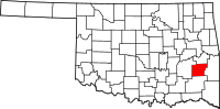 Map of Oklahoma highlighting Latimer County