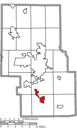 Location of Bellville in Richland County