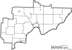 Location of Lower Salem in Washington County