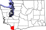 Map of Washington highlighting Clark County.svg