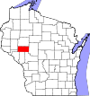 State map highlighting Eau Claire County