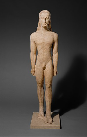 New York Kouros - Image: Marble statue of a kouros (youth) MET DT263