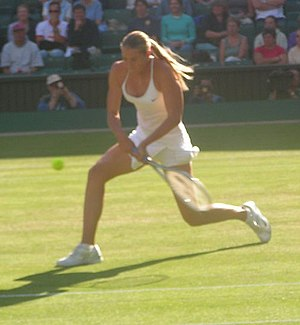 Maria Sharapova - Sharapova at Wimbledon in 2004